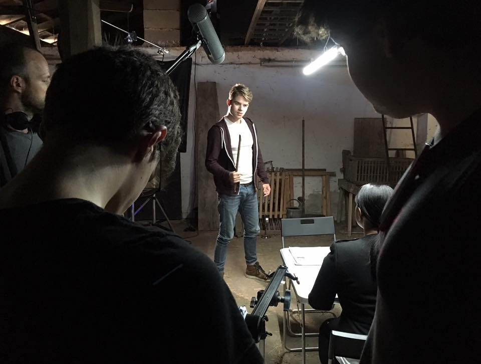 "Ethan Taylor as Colin on the set of ""The Hacker""."